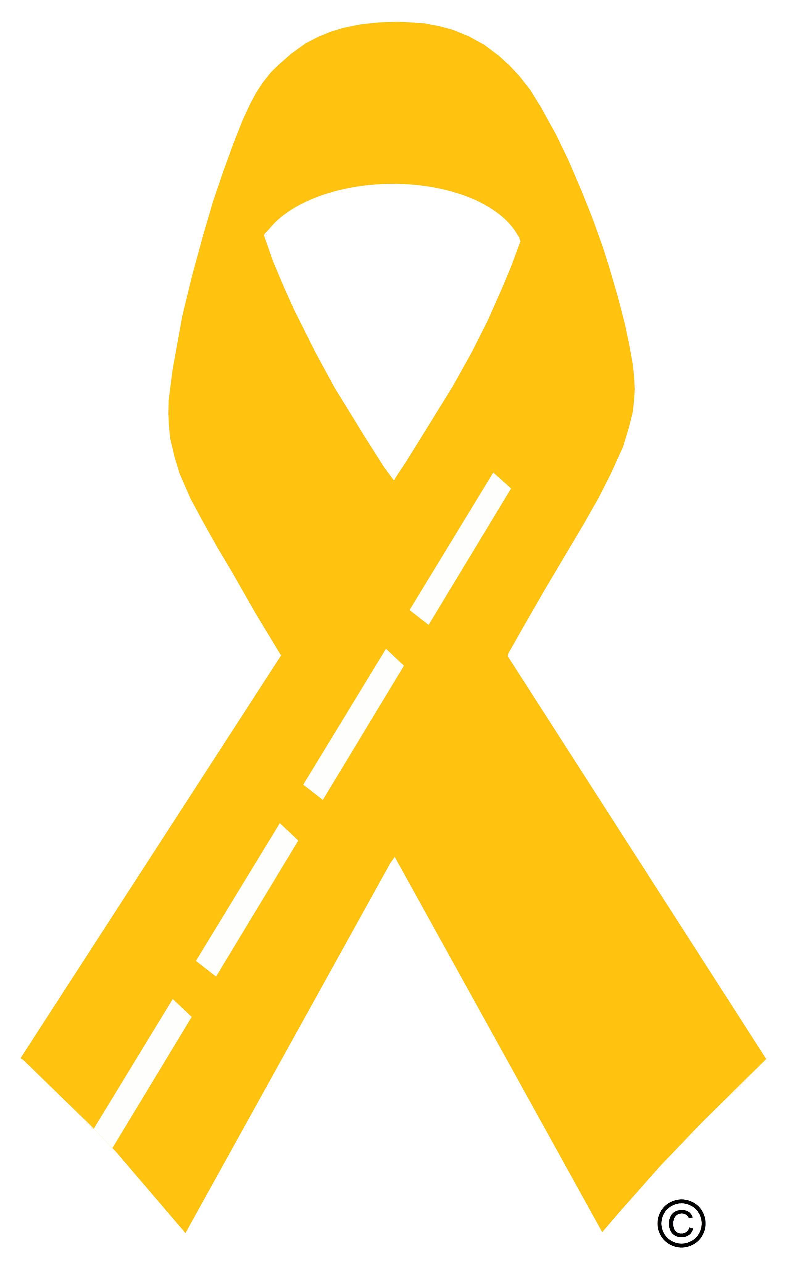 yellow ribbon with border copyright